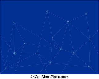 μπλε , τεχνολογία , φόντο , τρίγωνο , αφαιρώ , με , γραμμή , πληροφορία