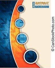 μπλε , φυλλάδιο , αφαιρώ , βέλος , πορτοκάλι