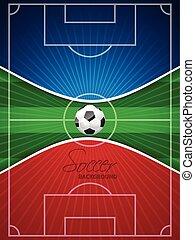 μπλε , φυλλάδιο , αφαιρώ , ποδόσφαιρο , κόκκινο
