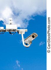 μπλε , φωτογραφηκή μηχανή , ουρανόs , επιτήρηση