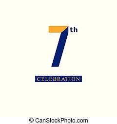 μπλε , φόρμα , επέτειος , εικόνα , μικροβιοφορέας , σχεδιάζω , 7 , πορτοκάλι , th , εορτασμόs