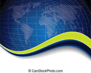 μπλε , χάρτηs , επιχείρηση , κύμα , πράσινο , φυλλάδιο