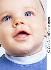 μπλε , χαριτωμένος , μάτια , αγόρι , μωρό , ευτυχισμένος