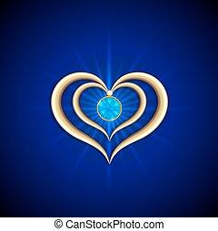 μπλε , χρυσαφένιος , αφαιρώ , ευφυής , μικροβιοφορέας , φόντο , αγάπη , gemstone
