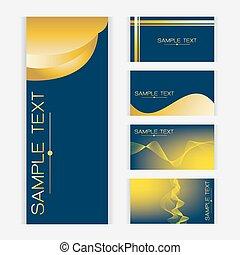 μπλε , χρυσός , αφαιρώ , κύμα , μικροβιοφορέας , σχεδιάζω , φόντο , κάρτα
