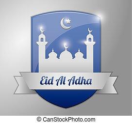 μπλε , adha, σήμα , eid, al