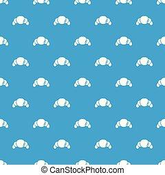 μπλε , croissant , μικροβιοφορέας , seamless, πρότυπο