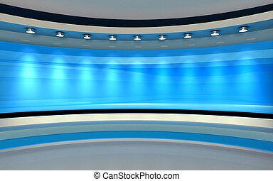 μπλε , drop., πίσω , απόδοση , studio., 3d
