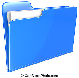 μπλε , folder.