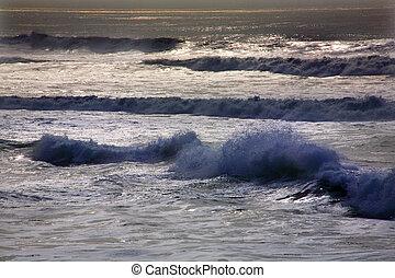 μπλε , francisco , san , ειρηνικός ωκεανός , καλιφόρνια , ανεμίζω