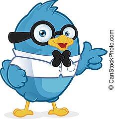 μπλε , geek , πουλί