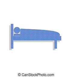 μπλε , illustration., κυκλάμινο , νοσοκομείο , φωτεινή επιγραφή , vector., εικόνα