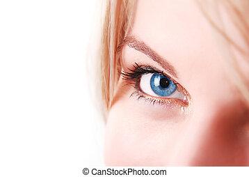 μπλε , macro , μάτι