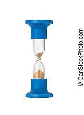 μπλε , sand-glass , απομονωμένος , αναμμένος αγαθός , φόντο