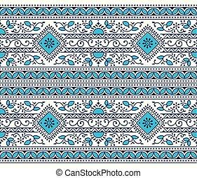 μπλε , seamless, παραδοσιακός , ινδός , φόντο , άσπρο , σύνορο