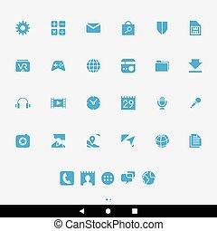 μπλε , smartphone, apps, απεικόνιση