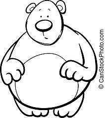 μπογιά , γελοιογραφία , αρκούδα , σελίδα