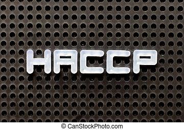 μπογιά φόντο , ανάλυση , διακόπτης , αλφάβητο , επικριτικός , λέξη , άσπρο , haccp, points), μαύρο , pegboard, (hazard