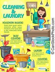 μπουγάδα , καθάρισμα , πλύση , υπηρεσία , σπίτι
