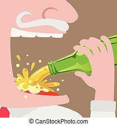 μπουκάλι , κατάλληλος για να φαγωθεί ωμός , άντραs , μπύρα
