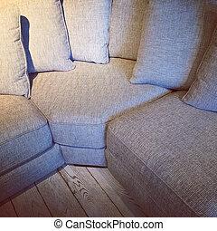 μπόλικος , απορροφητήρας κραδασμών , καναπέs , γωνία , αναπαυτικός