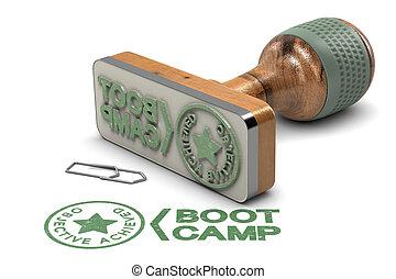 μπότα , κατασκηνώνω , concept., σκοπός , επέτυχα , πιστοποιητικό , πάνω , αγαθός φόντο