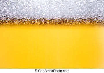 μπύρα , αφρίζω