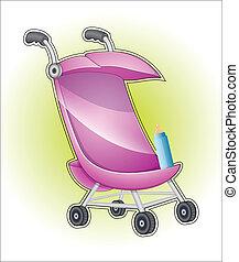 μωρό , μικροβιοφορέας , καροτσάκι βρέφους