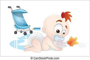 μωρό , μικροβιοφορέας , παίξιμο