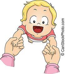μωρό , παιδί , χέρι , αγόρι , βόλτα