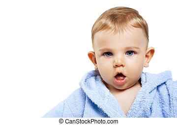 μωρό , χαριτωμένος , αγόρι , έκφραση , αστείος