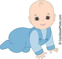 μωρό , χαριτωμένος , αγόρι , μικροβιοφορέας , ανατριζιάζω