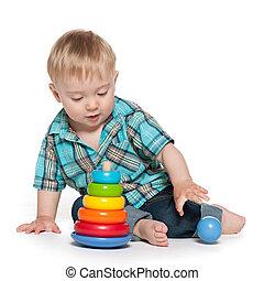 μωρό , χαριτωμένος , παιχνίδι , αγόρι