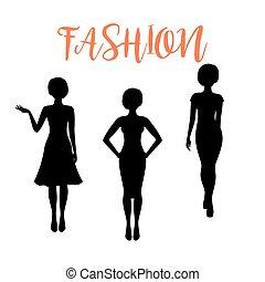 μόδα , διαφορετικός , γυναίκα , περίγραμμα , hairstyle