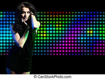 μόδα , χορός , ελαφρείς , disco , κορίτσι , εκφραστικός