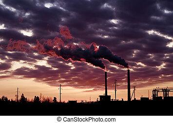 μόλυνση ατμόσφαιρας