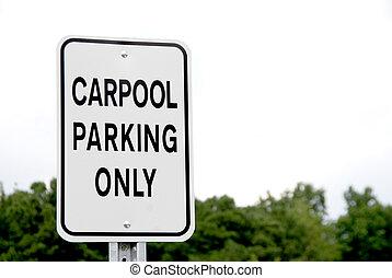 μόνο , carpool , πάρκινγκ