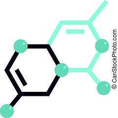 μόριο , απομονωμένος , δομή , εικόνα