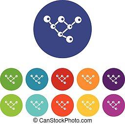 μόριο , δομή , θέτω , απεικόνιση