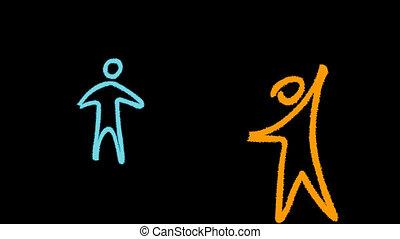 μόρφωση , και , interconnection , από , άνθρωποι