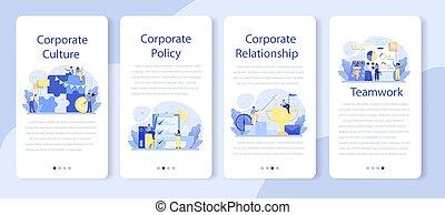 μόρφωση , κινητός , εταιρικός , set., σημαία , relations., αίτηση