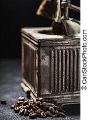 μύλος , κόκκοι καφέ