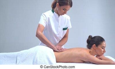 νέα γυναίκα , μέσα , spa., παραδοσιακός , φαρμακευτικός ,...