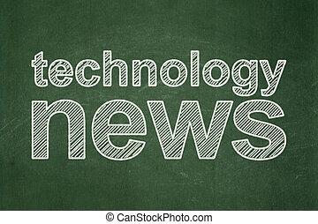 νέα , concept:, τεχνολογία , chalkboard , φόντο