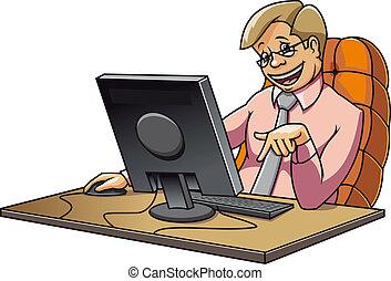 νέος , διαχειριστής , μέσα , γραφείο
