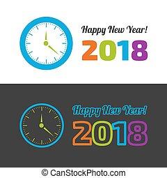 νέο έτος , ευτυχισμένος , εικόνα , ρολόι