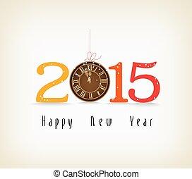 νέο έτος , ευτυχισμένος , χρυσός , ρολόι