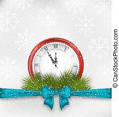 νέο έτος , μεσάνυκτα , φόντο , ρολόι