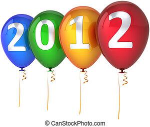 νέο έτος , μπαλόνι , ευτυχισμένος , 2012