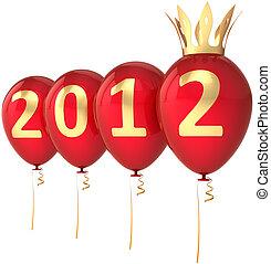 νέο έτος , μπαλόνι , πάρτυ , 2012